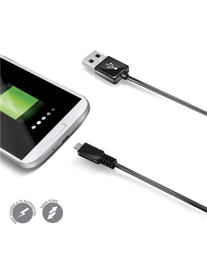Usb data cable microusb black USBMICROB
