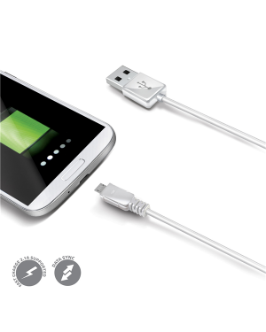 USB DATA CABLE MICROUSB WHITE USBMICROW by No