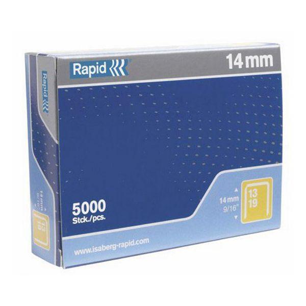 Scatola 5000 punti rapid 13 - 14 galvanizzati 11850500 7313469013102 11850500_32404 by Rapid