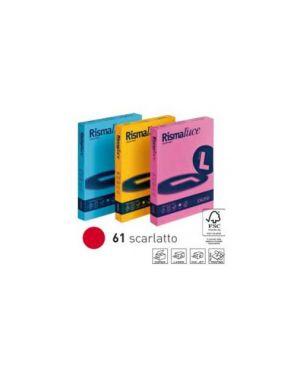 Carta rismaluce 200gr a4 125fg rosso scarlatto favini A67C104_32772 by Esselte