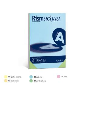 Carta rismacqua 200gr a3 125fg mix 5 colori favini A67X123_32790 by Esselte