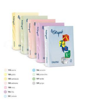 Carta lecirque a4 80gr 500fg rosa pastello 108 favini A71S504_32862 by Esselte