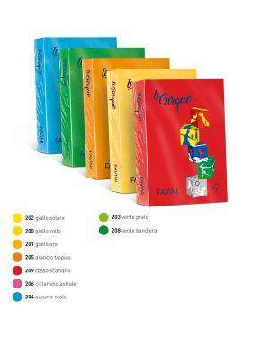 Carta lecirque a4 160gr 250fg giallo sole 202 favini A74B304_32911