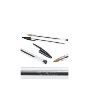 Scatola 50 penna sfera cristal® medio 1,0mm nero bic® 8373639_33048