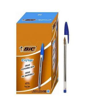 Scatola 50 penna sfera cristal® medio 1,0mm blu bic 8373609 70330129627 8373609_33049 by Bic