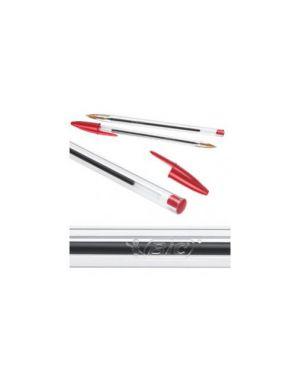 Scatola 50 penna sfera cristal® medio 1,0mm rosso bic® 8373619_33051