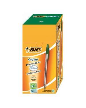 Scatola 50 penna sfera cristal® medio 1,0mm verde bic 8373629 70330129641 8373629_33053 by Bic