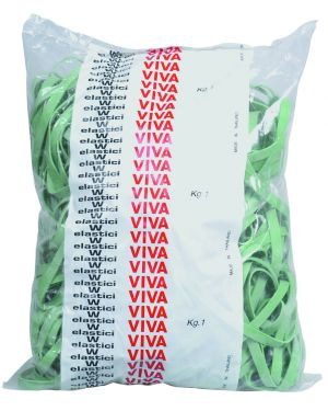 Elastico fettuccia verde Ø70 t5 sacco da 1kg F5X070 8014035000555 F5X070_34151 by Viva