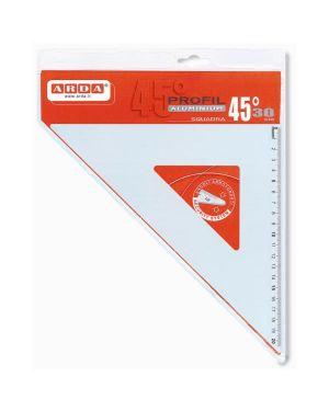 Squadra 45° 30 cm alluminio Arda 18032 8003438180322 18032_34891 by Arda