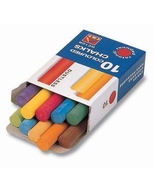 Scatola 10 gessetti tondi colorati primo 014GC10R 8006919000140 014GC10R_35276 by Primo - Morocolor