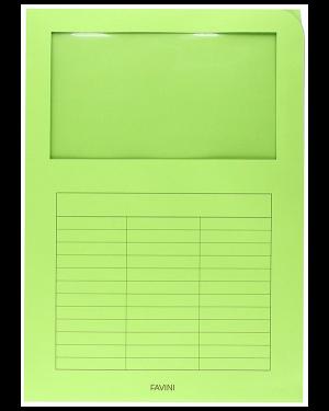 Cartelline c - finestra verde Cartotecnica Favini A51M124 8007057261592 A51M124_35489