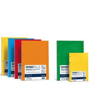 10 separatori in cartoncino colorato 220gr 15x21cm dividerello favini A56Y105_35492