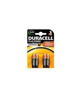 Blister 4 pile duracell plus (mn2400) aaa - ministilo DURMN2400LLX_36209 by Esselte