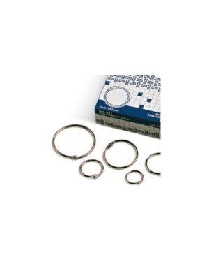 Scatola 100 anelli in metallo 35mm x rilegatura 453_36525 by No