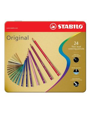 Astuccio metallo 24 pastelli stabilo original 8774 8774-6 4006381311649 8774-6_36756 by Stabilo