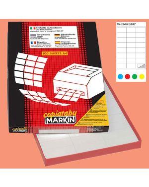Etichetta adesiva c/500 rosso 100fg a4 70x36mm (24et/fg) markin 210C500R_36904 by Esselte