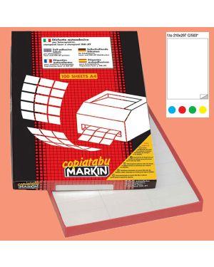 Etichetta adesiva c/503 rosso 100fg a4 210x297mm (1et/fg) markin 210C503R_36908 by Esselte