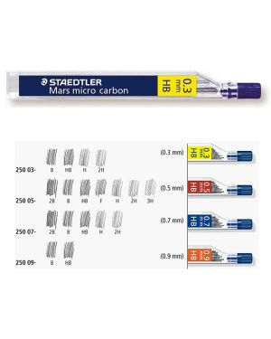 12 astucci da 12 mine 0.5mm mars®micro 250 05-b staedtler 25005B 4007817213568 25005B_37047 by Staedtler