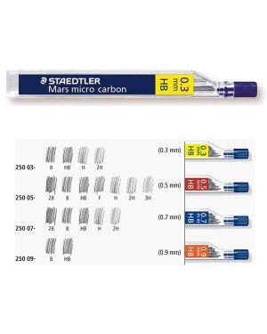 12 astucci da 12 mine 0.5mm mars®micro 250 05-3h staedtler 250053H 4007817213711 250053H_37053 by Staedtler