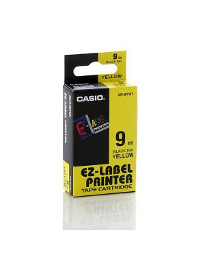Nastro casio 9mm x 8mt nero su giallo XR-9YW 4971850117452 XR-9YW_37081 by Casio