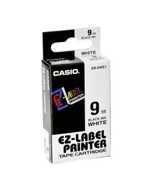 Nastro casio 9mm x 8mt nero su bianco XR-9WE 4971850117384 XR-9WE_37082 by Casio