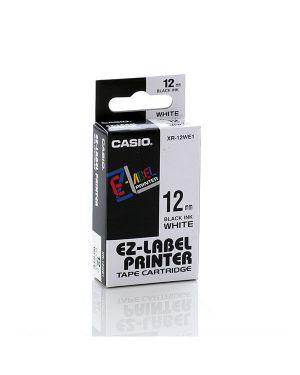 Nastro casio 12mm x 8mt nero su bianco XR-12WE 4971850177012 XR-12WE_37085 by Casio
