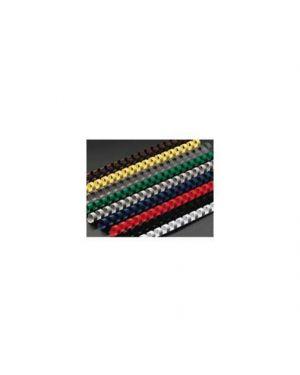 Scatola 100 dorsi spirale 16mm nero 21 anelli 4028600_37351 by Gbc