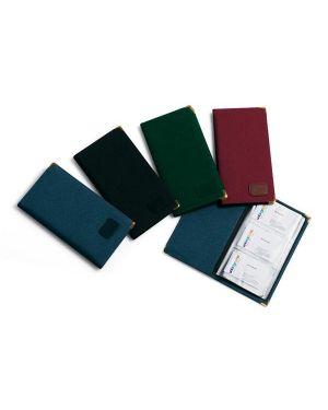 Portabiglietti da visita niji 5158 in tessuto 23x12cm nero 5158-N_37624 by Esselte