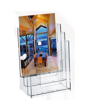 Portadepliant in polistirolo trasparente 23x33x14cm art.5024 5024 4891201000717 5024_37869 by Lebez