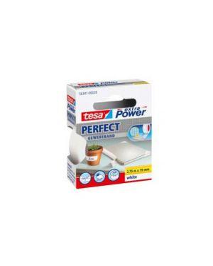 Nastro adesivo telato 19mmx2,7mt bianco 56341 xp perfect 56341-0002803_37923 by Tesa