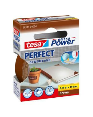 Nastro adesivo telato 19mmx2,7mt marrone 56341 xp perfect 56341-00034-03 4042448044136 56341-00034-03_37930 by Tesa