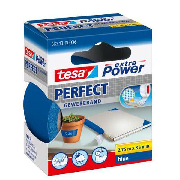 Nastro adesivo telato 38mmx2,7mt blu 56343 xp perfect 56343-00036-03_37933 by Esselte