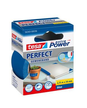 Nastro adesivo telato 38mmx2,7mt blu 56343 xp perfect 56343-00036-03 4042448044198 56343-00036-03_37933 by Tesa