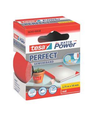 Nastro adesivo telato 38mmx2,7mt rosso 56343 xp perfect 56343-00038-03 4042448044235 56343-00038-03_37935 by Tesa