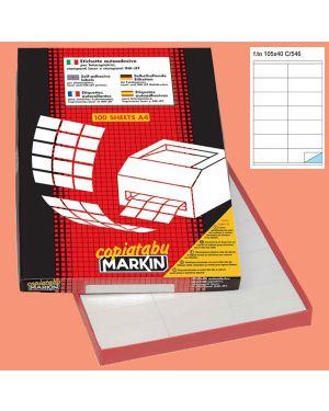 Etichetta adesiva c - 546 bianca 100fg a4 105x40mm (14et - fg) markin 210C546 8007047026286 210C546_38031 by Markin