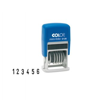 Timbro mini numeratore s126 6colonne 3,8mm autoinchiostrante colop S126 9004362365556 S126_38118 by Colop