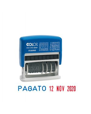 Timbro mini s120wd datario + polinomio 12diciture 4mm autoinchiostrante colop S120/WD 9004362359432 S120/WD_38128 by Colop