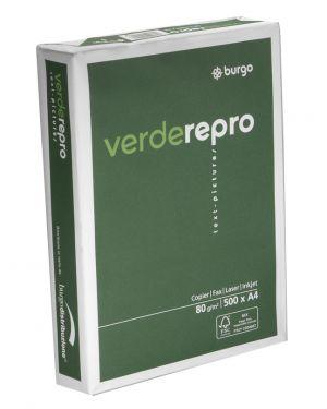 Carta fotocopie burgo verde repro 80s 210x297mm 80gr CONFEZIONE DA 5 1104425-8132_38518 by Esselte
