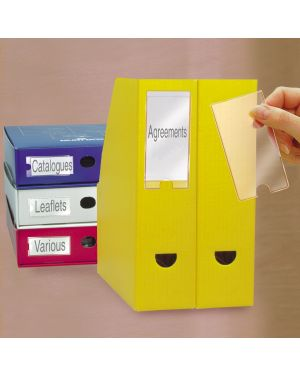 Busta 12 portaetichette ppl adesive trasparenti 35x102mm 10325 3l S852325_39045 by Esselte
