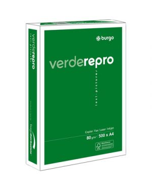 Carta fotocopie burgo verde repro 80s 297x420mm 80gr Confezione da 5 pezzi 1104425-8553_39121 by Burgo