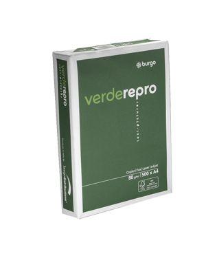 Carta fotocopie burgo verde repro 80s 297x420mm 80gr CONFEZIONE DA 5 1104425-8553_39121 by Esselte