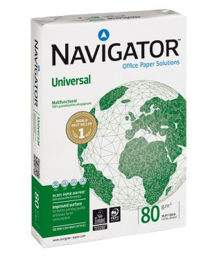 Carta navigator universal a4 80gr 500fg CONFEZIONE DA 5 252X80B021297_39257 by Esselte