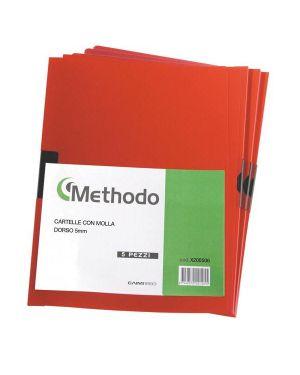 Cartellina pvc c - molla dorso 5 rosso spring file 22x31 X200506 40281A X200506_40281 by Methodo