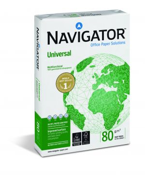 Carta navigator universal a3 80gr 500fg 297x420mm CONFEZIONE DA 5 428X80B042297_40408
