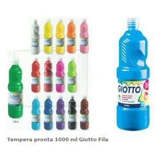 Flacone 1000ml tempera giallo Giotto 533402 8000825967054 533402_40465 by Giotto