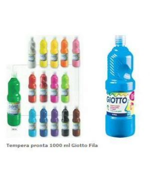 Flacone 1000ml tempera verde cinab Giotto 533411 8000825967177 533411_40469 by Giotto