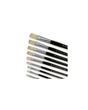 Pennello punta piatta pura setola n°8 serie 577 lebez Confezione da 12 pezzi 577/8_40486 by Lebez