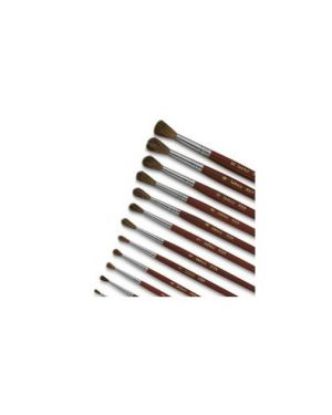 Pennello punta tonda pelo di pony n°12 serie 9124 lebez Confezione da 12 pezzi 9124/12_40498 by Lebez