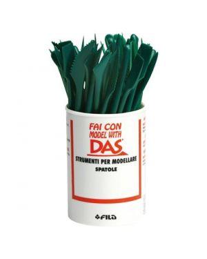 Barattolo 48 pz spatola in plastica Das 385800 8000144385805 385800_40508