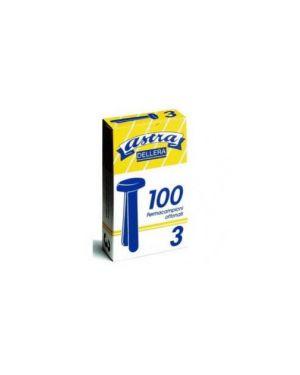 Scatola 100 fermacampioni semigiganti n.10 50mm ottonati astra FC10_44683 by Astra